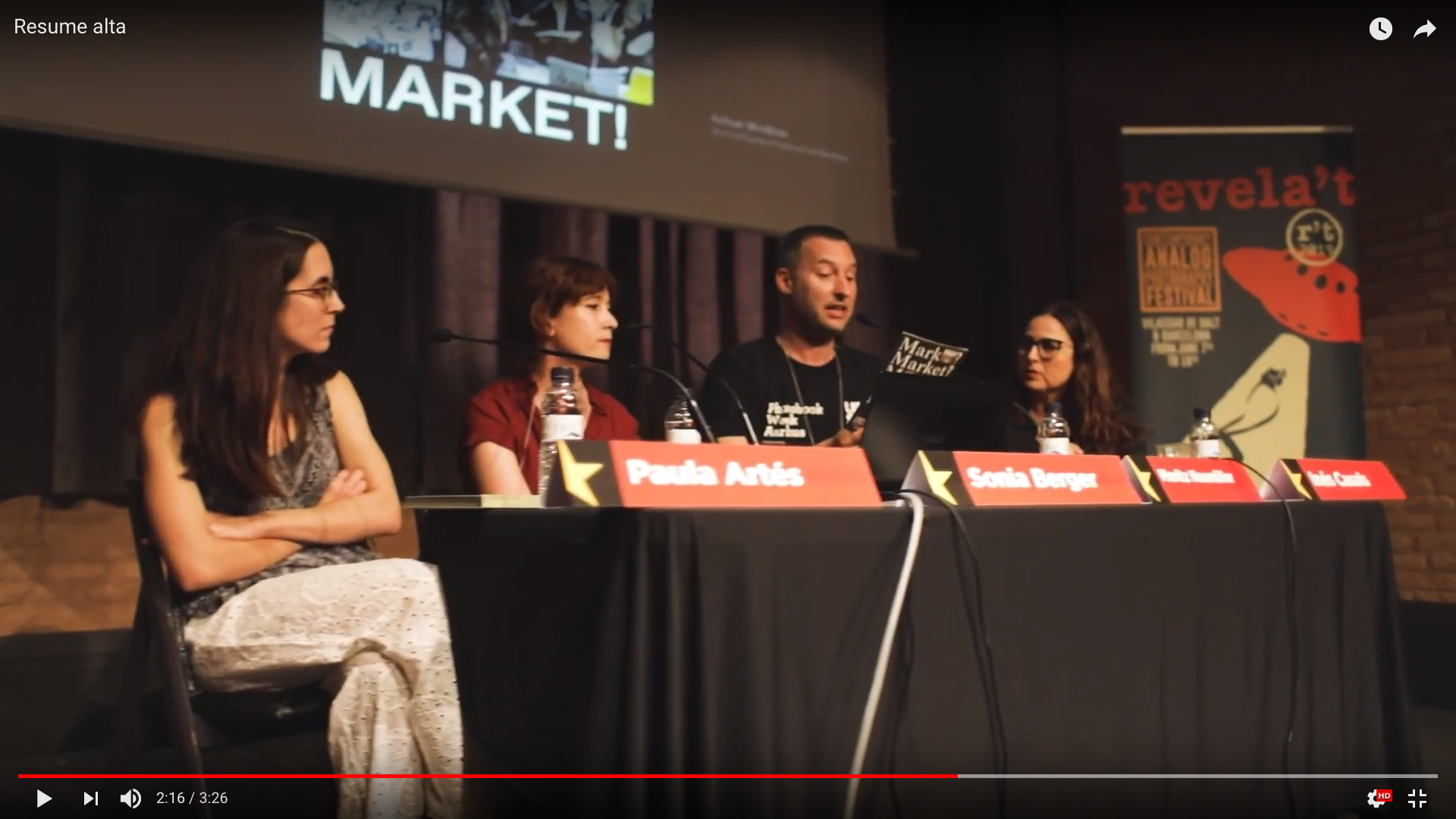 Market? What Market? featured at Revela'T festival in Barcelona