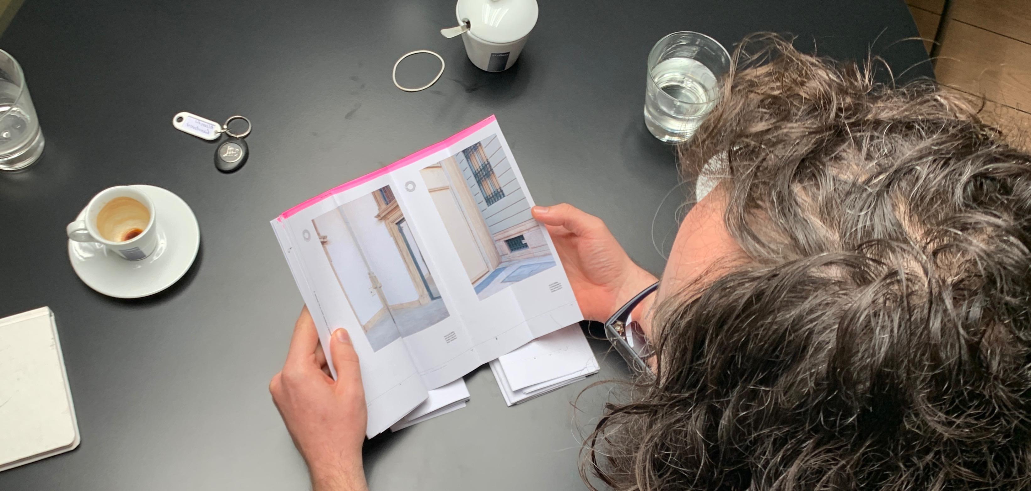 Printing Stijn Van der Linden's essay on the concave city corner